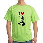 I Love McCain Green T-Shirt