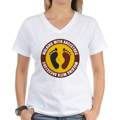Walking With Ancestors Women's V-Neck T-Shirt