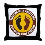 Walking With Ancestors Throw Pillow