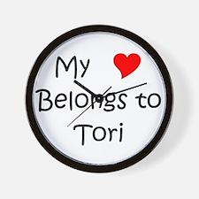 Unique Tori Wall Clock