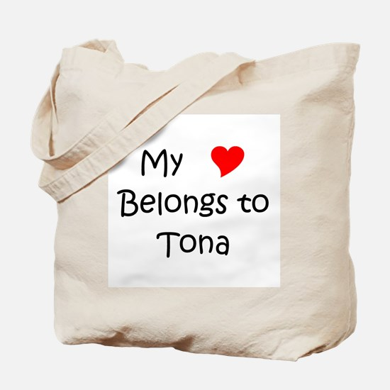 Funny My heart belongs benito Tote Bag