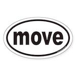 move Euro Oval Sticker