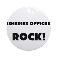 Fisheries Research Scientists ROCK Ornament (Round