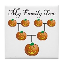 Pumpkin Tree Tile Coaster