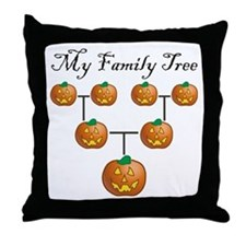 Pumpkin Tree Throw Pillow