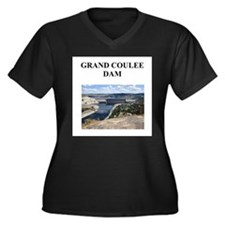 grand coulee dam gifts and t- Women's Plus Size V-