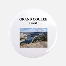 "grand coulee dam gifts and t- 3.5"" Button"