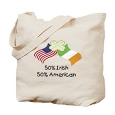 50% Irish 50% American (Flags) Tote Bag