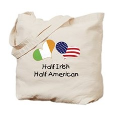 Half Irish Half American (Hearts) Tote Bag