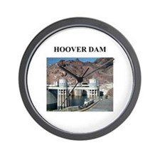 hoover dam gifts and t-shirts Wall Clock