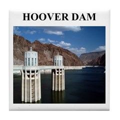 hoover dam gifts and t-shirts Tile Coaster