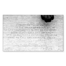 National Law Officers Memorial Sticker (Rectangula
