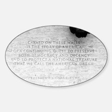 National Law Officers Memorial Oval Decal