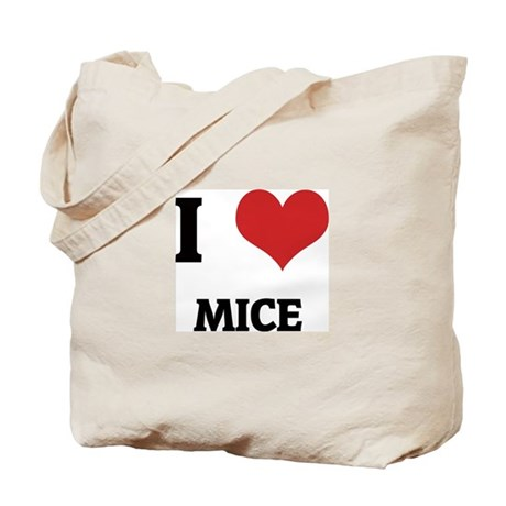 I Love Mice Tote Bag