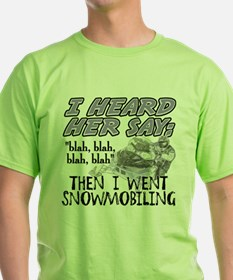 Blah blah blah Snowmobile T-Shirt