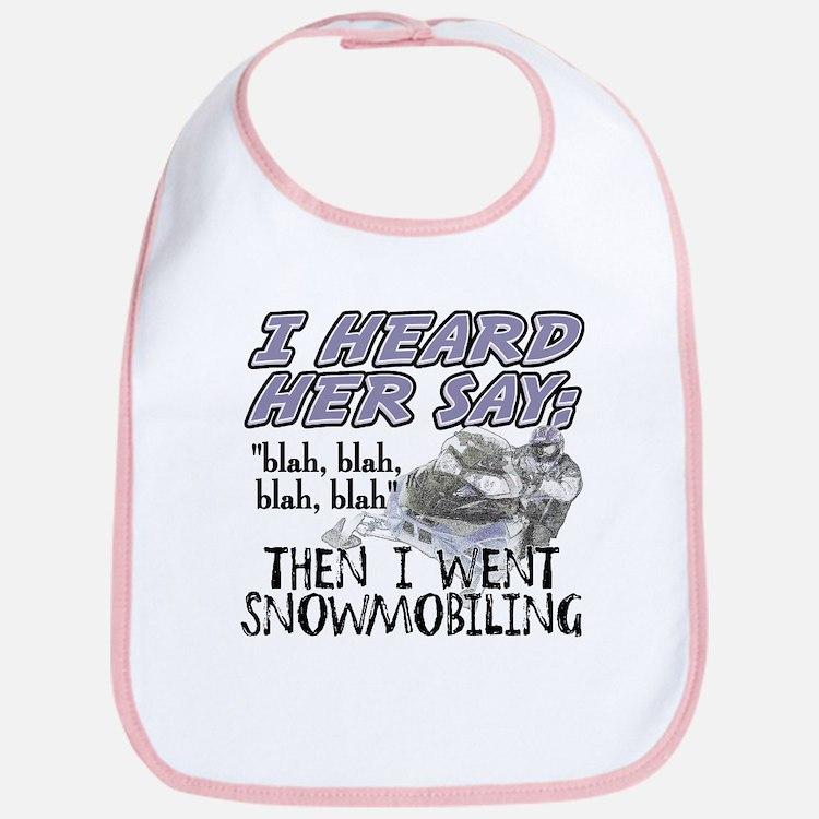 Blah blah blah Snowmobile Bib