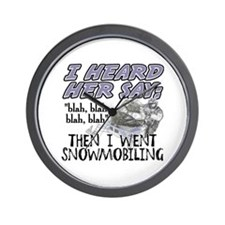 Blah blah blah Snowmobile Wall Clock