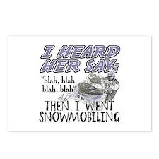 Blah blah blah Snowmobile Postcards (Package of 8)