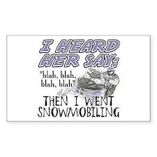 Blah blah blah Snowmobile Decal