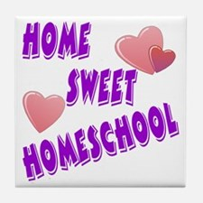 Home Sweet Homeschool Tile Coaster
