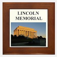 lincoln memorial washington g Framed Tile