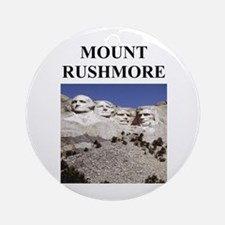 mount rushmore gifts and t-sh Ornament (Round)