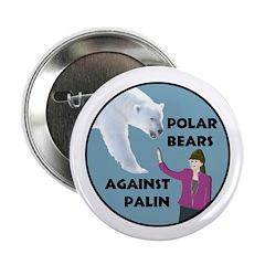 Polar Bears Against Palin political button