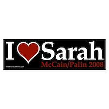 I Heart Sarah Palin Bumper Bumper Sticker