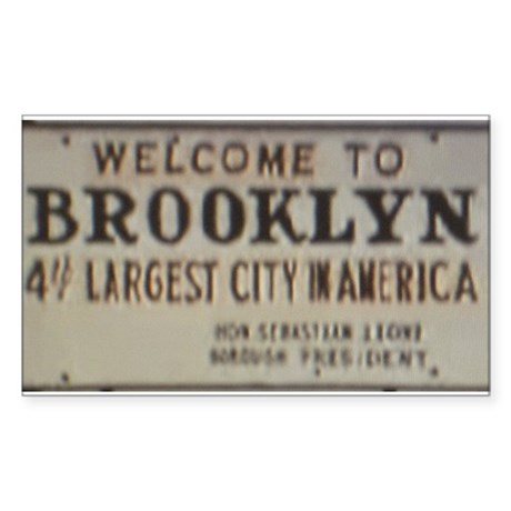 Welcome to Brooklyn Rectangle Sticker