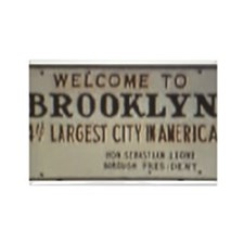 Welcome to Brooklyn Rectangle Magnet