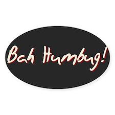 Black BAH HUMBUG! Christmas Package Oval Decal