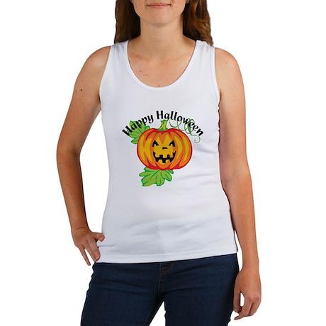 Happy Halloween Pumpkin Women's Tank Top