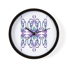 'Purple Iris' Wall Clock