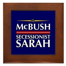 McBush/Secessionist Sarah '08 Framed Tile