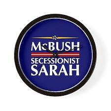 McBush/Secessionist Sarah '08 Wall Clock