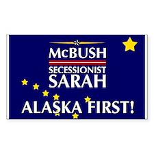 McBush/Secessionist Sarah '08 Rectangle Decal