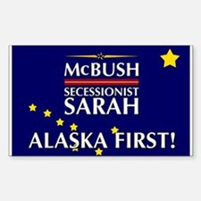McBush/Secessionist Sarah '08 Rectangle Decal