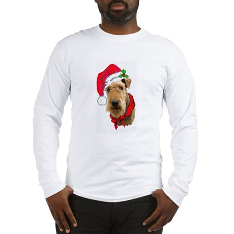 Airedale Christmas Long Sleeve T-Shirt