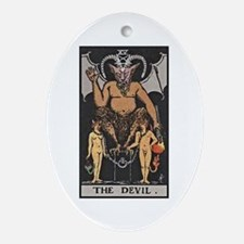 Devil Oval Ornament