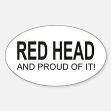 The Proud Red Head Oval Decal