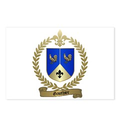 GAUTHIER Family Crest Postcards (Package of 8)