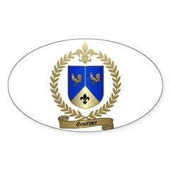 GAUTHIER Family Crest Oval Decal