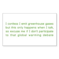 Greenhouse gases Rectangle Decal