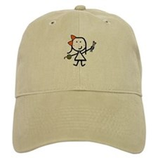 Girl & Knitting Baseball Cap