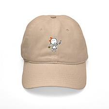 Girl & Knitting Baseball Cap