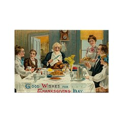 Good Thanksgiving Wishes Rectangle Magnet (100 pac