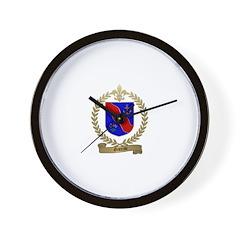 GAREAU Family Crest Wall Clock