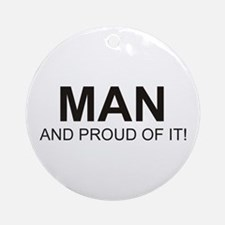 The Proud Man Ornament (Round)