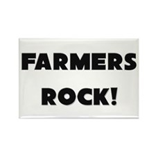 Farmers ROCK Rectangle Magnet