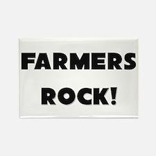 Farmers ROCK Rectangle Magnet